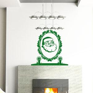 V4054-Noel-Arbre-Chef-Cuisine-stickers-lavage-Magasinage-design-decoration
