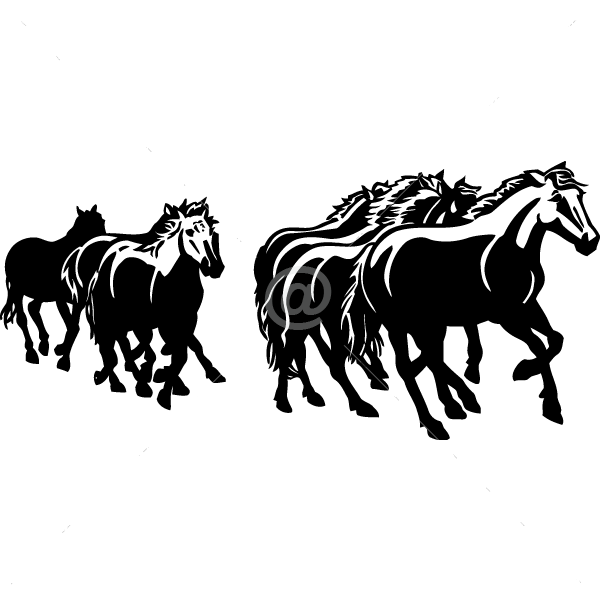 V4080-Cool--Design-Stickers-Shopping-Animal-Horses