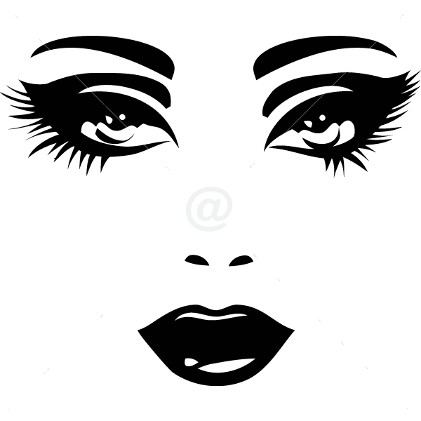 V4082-Cool--Design-Stickers-Shopping-Face-Women-People