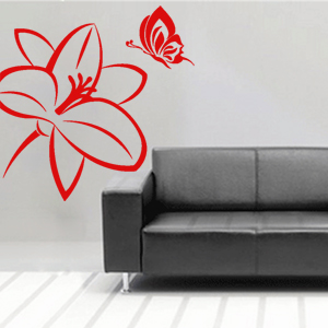 V4103-Flower-Butterfly-cool-stickers--Christmas-tree-Dessin-Chef-kitchen-skate-board-stickers-food-lavage-shopping