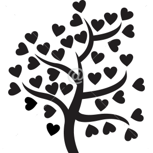 V4105-Tree-Heart-Christmas-tree-Chef-kitchen-cuisine-stickers-food-lavage-tree-dessin-Voilier