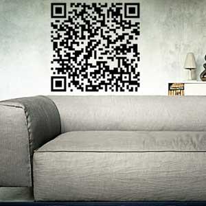 V4152-barcode-Square-Stickers-Mur-Vinyle design-Creatif