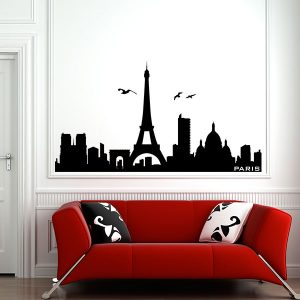 V4154-Paris-City-Building-Stickers-Wall