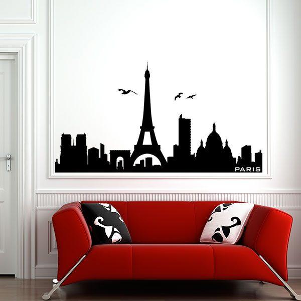 V4154-Paris-City-Building-Stickers-Wall