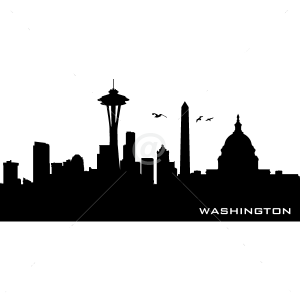 V4156-Washington-City-Building-Stickers-Wall