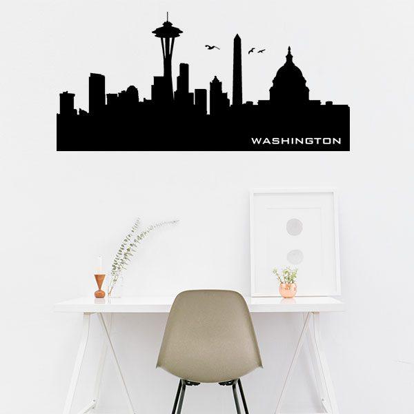 V4156-Washington-City-Building-Stickers-Wall