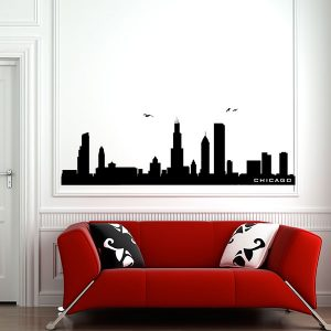 V4158-Chicago-City-Building-Stickers-Wall