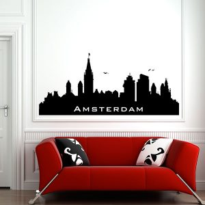 V4159-Amsterdam-City-Building-Stickers-Wall