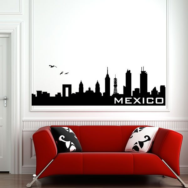 V4162-Mexico-City-Building-Wall-Stickers-Decal