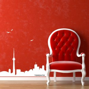 V4164-Toronto-City-Building-Wall-Stickers-Decal