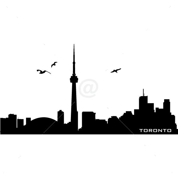 V4164-Toronto-City-Building-Wall-Stickers-Decal