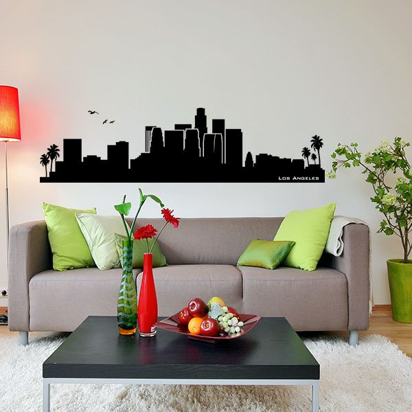 V4165-Los-Angelos-City-Building-Wall-Stickers-Decal
