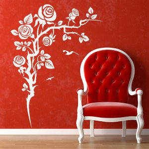 V4166-Flower-Corner-Bird-Wall-Stickers-Decal