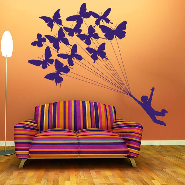 V4169-Buterfly-kids-fun-stickers-Wall-Stickers-Decals