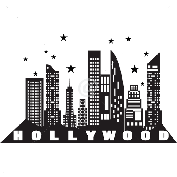 V4171-Hollywood-City-Building-Wall-Stickers-Decals