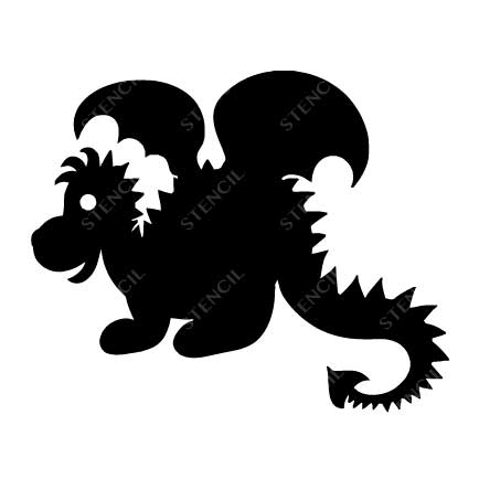 T-1011-Stencil-Tattoo-Self adhesive Stencils Face Painting Design Decoration Dragon