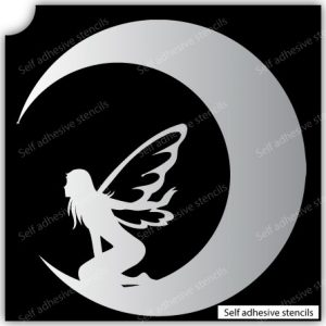 T-1013-Stencil Tattoo Self adhesive Stencils Face Painting Design Decoration Fairy Moon