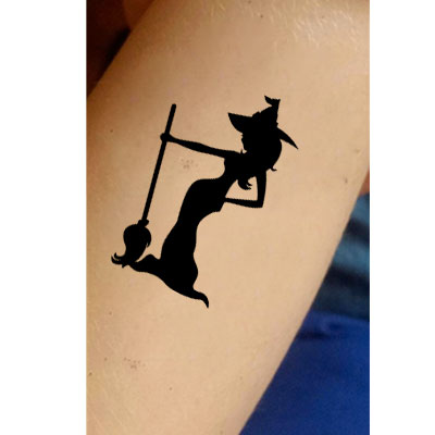 T-1016-Stencil Tattoo Self adhesive Stencils Face Painting Design Decoration Maleficent Witch
