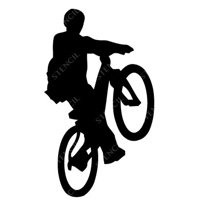 T-16001 Stencil Tattoo Self adhesive Stencils Face Painting Design Decoration Bicycle