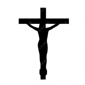 T-17002 Stencil Tattoo Self adhesive Stencils Face Painting Design Decoration Christ