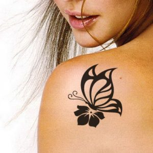 T-4002 Stencil Tattoo Self adhesive Stencils Face Painting Design Decoration Butterfly