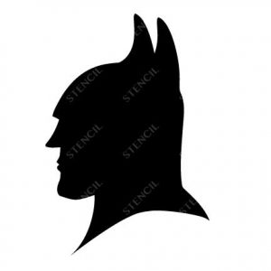 TR-1012 Bat Stencil Tattoo Self adhesive Stencils Face Painting Design Decoration Mermaid