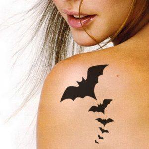 TR-1015 Bat Stencil Tattoo Self adhesive Stencils Face Painting Design Decoration Mermaid