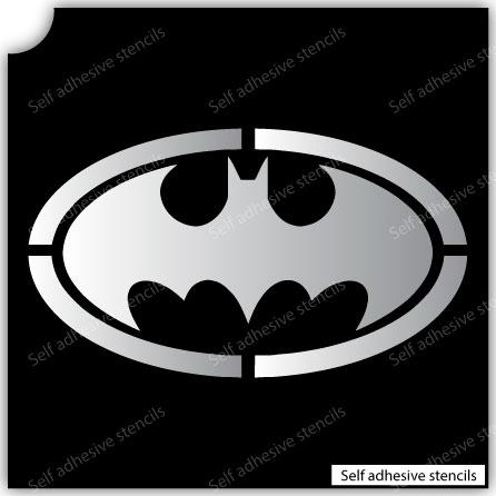 TR-1017 Bat Stencil Tattoo Self adhesive Stencils Face Painting Design Decoration
