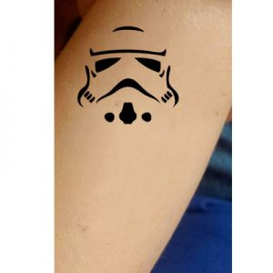 TR-1027 Robot Stencil Tattoo Self adhesive Stencils Face Painting Design Decoration