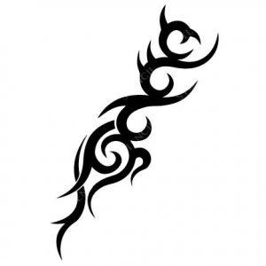 TR-12001 Stencil Tattoo Self adhesive Stencils Face Painting Design Decoration Cherry Arabic Word eimpression.ca