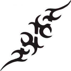 TR-12004 Stencil Tattoo Self adhesive Stencils Face Painting Design Decoration Cherry Arabic Word eimpression.ca