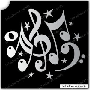 TR-13000 Stencil Tattoo Self adhesive Stencils Face Painting Design Decoration Cherry Arabic Word eimpression.ca