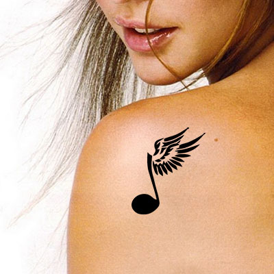TR-13001 Stencil Tattoo Self adhesive Stencils Face Painting Design Decoration Cherry Arabic Word eimpression.ca
