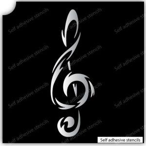 TR-13002 Stencil Tattoo Self adhesive Stencils Face Painting Design Decoration Cherry Arabic Word eimpression.ca