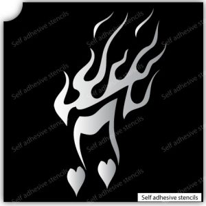 TR-13003 Stencil Tattoo Self adhesive Stencils Face Painting Design Decoration Cherry Arabic Word eimpression.ca