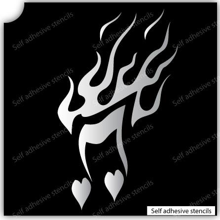 TR-13003 Stencil Tattoo Self adhesive Stencils Face Painting Design Decoration Cherry Arabic Word eimpression.ca