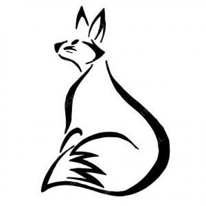TR-2000 Fox Stencil Tattoo Self adhesive Stencils Face Painting Design Decoration