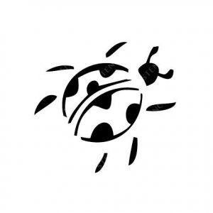 TR-2008 Bug Stencil Tattoo Self adhesive Stencils Face Painting Design Decoration