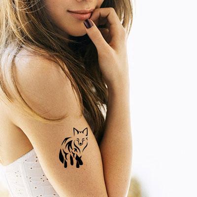 TR-2016 Fox Stencil Tattoo Self adhesive Stencils Face Painting Design Decoration