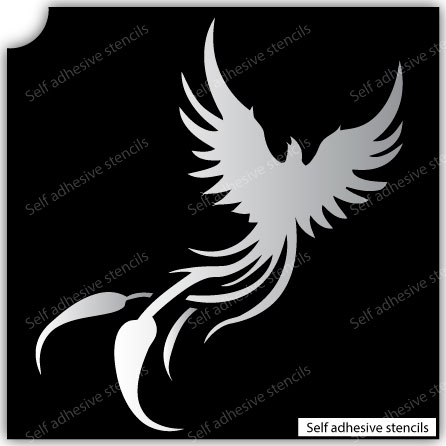 TR-3001 Phoenix Stencil Tattoo Self adhesive Stencils Face Painting Design Decoration