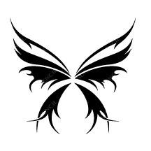 TR-4000 Papillon Pochoir pour Tatouage Auto-adhésifs pour Visage Peinture Design Décoration