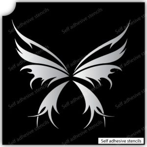 TR-4000 Beauty butterfly Stencil Tattoo Self adhesive Stencils Face Painting Design Decoration