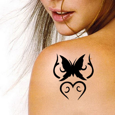 TR-4007 Stencil Tattoo Self adhesive Stencils Face Painting Design Decoration