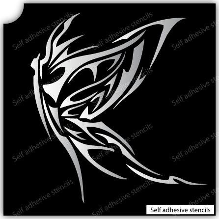 TR-4009 Stencil Tattoo Self adhesive Stencils Face Painting Design Decoration