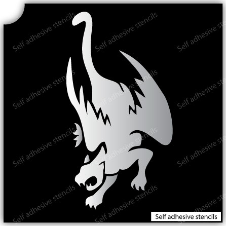 TR-7001 Stencil Tattoo Self adhesive Stencils Face Painting Design Decoration Dolphin