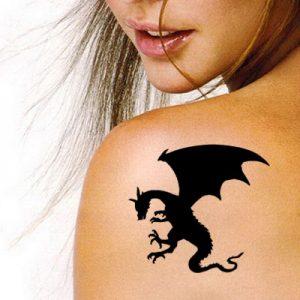 TR-7005 Stencil Tattoo Self adhesive Stencils Face Painting Design Decoration Dragon
