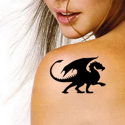 TR-7006 Stencil Tattoo Self adhesive Stencils Face Painting Design Decoration Dragon