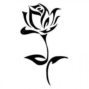TR-8004 Stencil Tattoo Self adhesive Stencils Face Painting Design Decoration Flower eimpression.ca