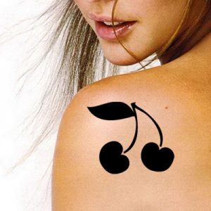 TR-9000 Stencil Tattoo Self adhesive Stencils Face Painting Design Decoration Cherry Food eimpression.ca
