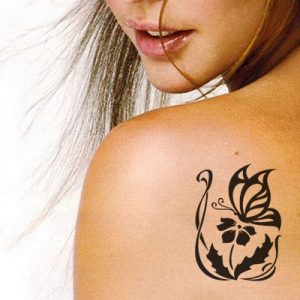 T-4000 Stencil Tattoo Self adhesive Stencils Face Painting Design Decoration Butterfly